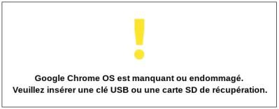 Comment restaurer un Chromebook après un crash système .