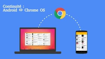 La liaison de Chrome OS et d'Android sera plus profonde que la seule intégration des SMS