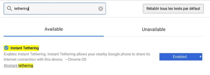 Instant Tethering : le partage de connexion internet depuis votre Chromebook