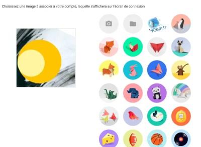 Des figures géométriques en guise d'avatar pour votre profil Chrome OS