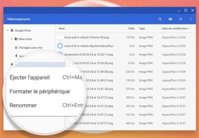Renommer vos périphériques de stockage USB sur Chrome OS et Chromebook