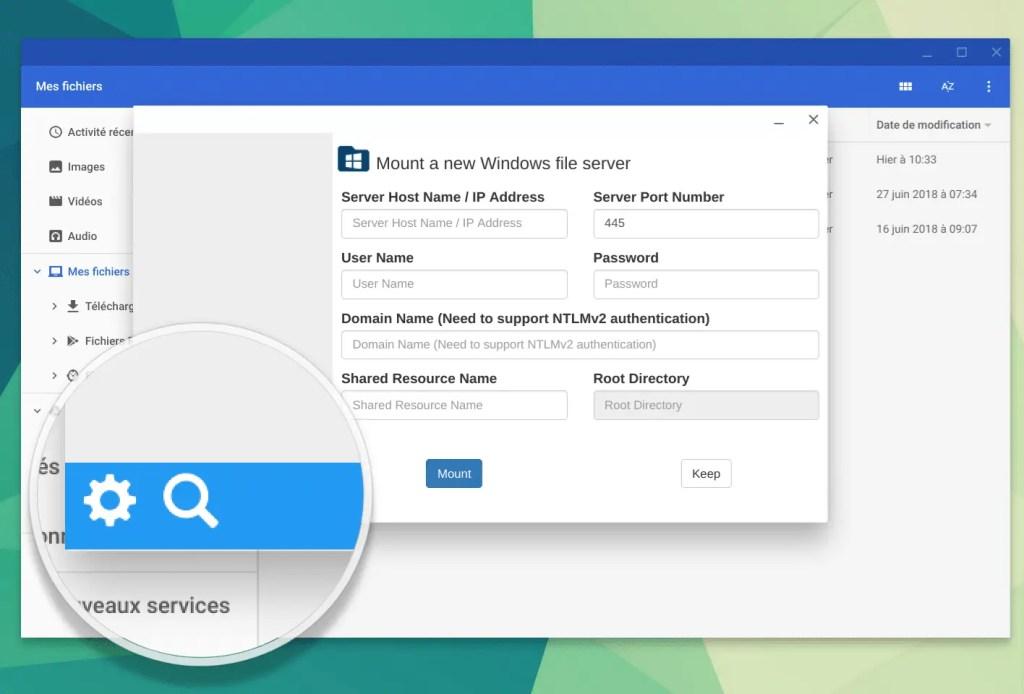 File System for windows rechercher de NAS