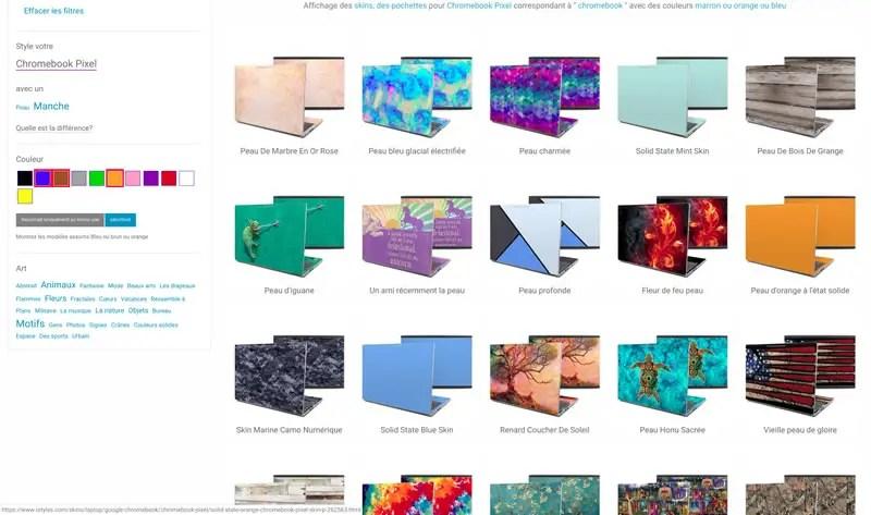 Page intérieure du site i styles
