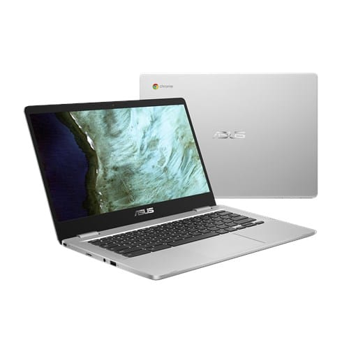"Asus C423NA-BV0044 Chromebook 14"" Argent (Intel Pentium, 8 Go de RAM, EMMC 64 Go) Clavier AZERTY Français"