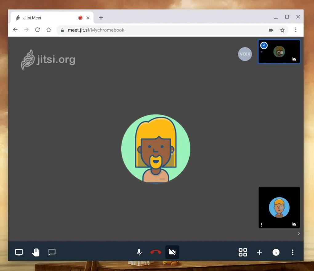 Jitsi La vidéo conférence sur ChromeOS