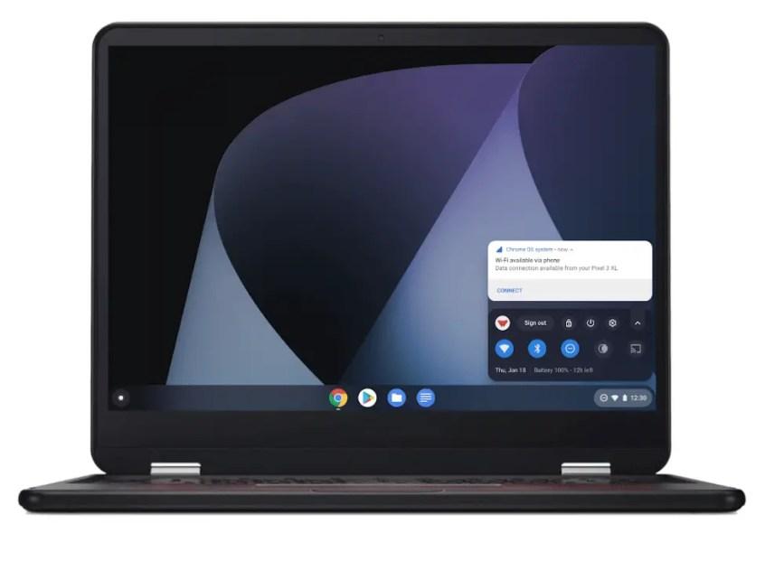L'Instant Tethering sur 15 Chromebook et 30 smartphones