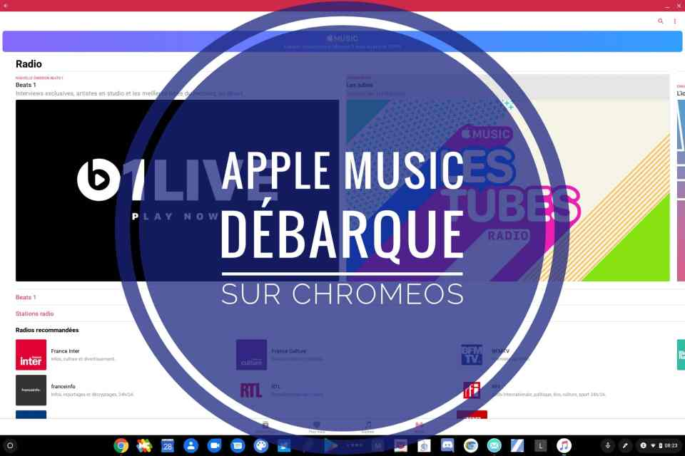Les Chromebook peuvent maintenant utiliser Apple Music