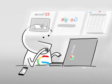 L'interface de gestion des onglets Chrome a été revue en mode tactile