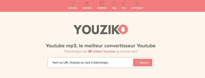 Youzik ou comment convertir une vidéo youutbe en MP3