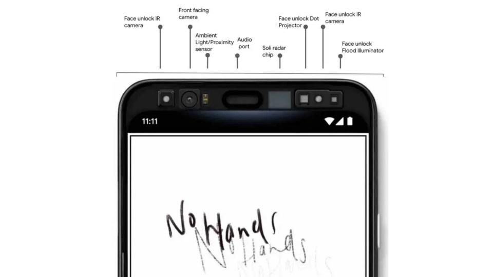 Les différents capteurs de Smartphone Pixel 4 et 4 XL