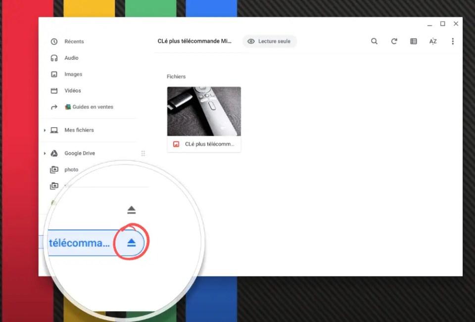 Éjecter un dossier Zippé sur ChromeOS