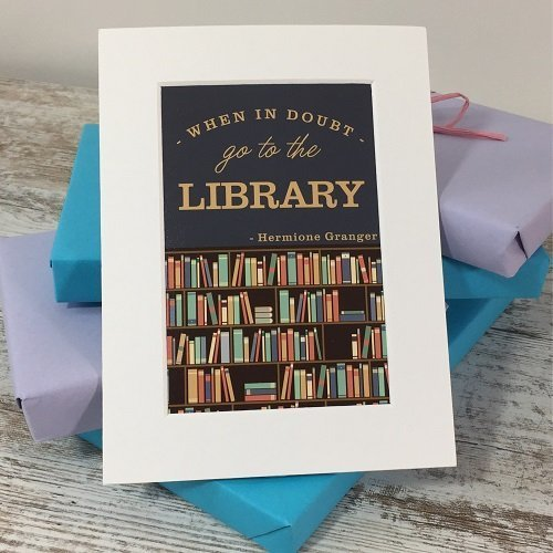 Library quote print square