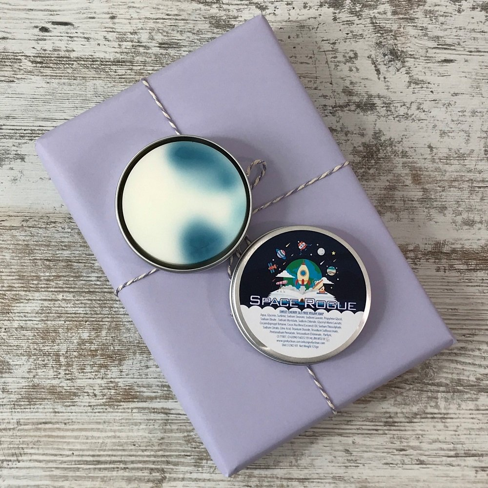Book Subscription Box - SFF - February 2019 - Space Rogue soap tin