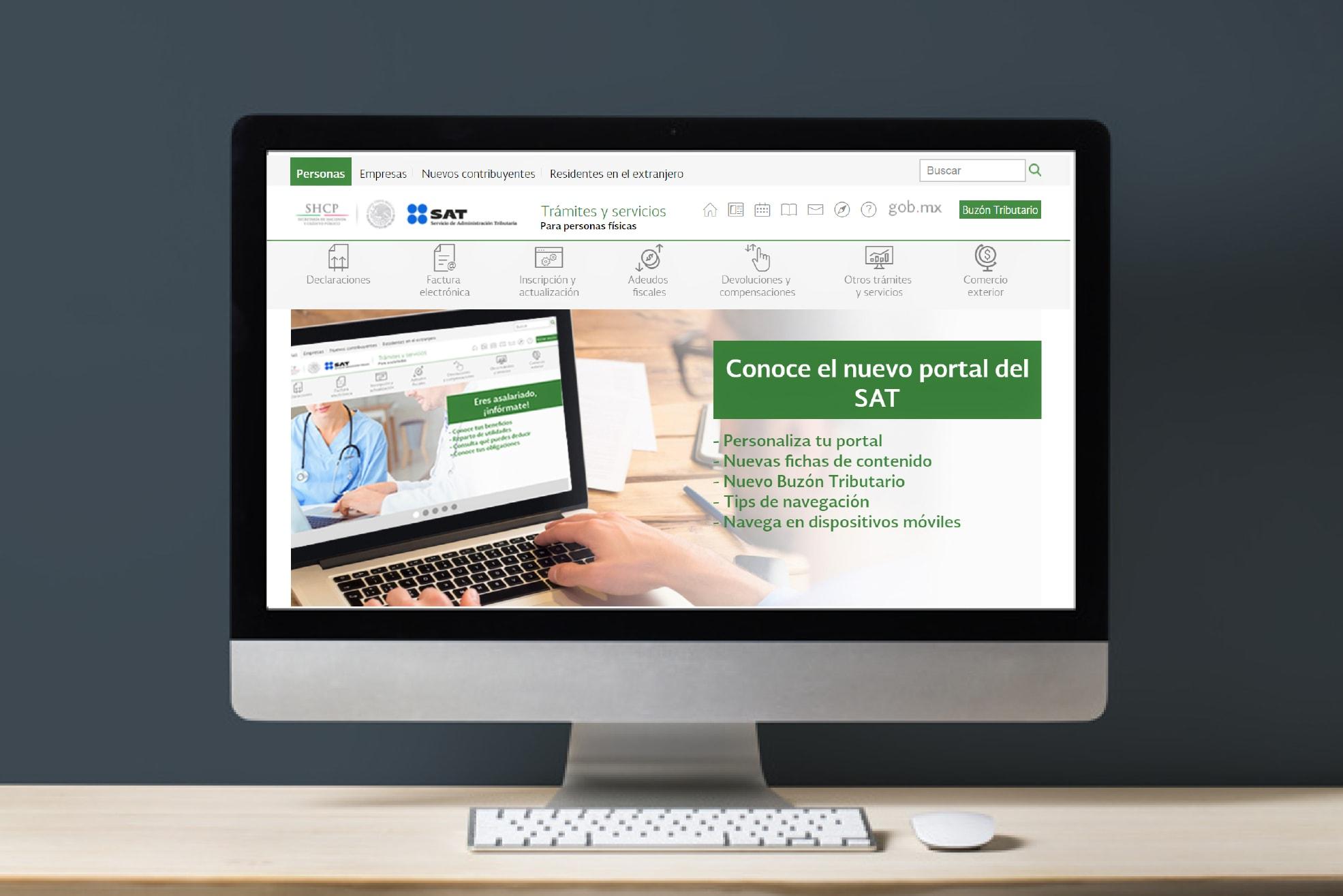 Nuevo Buzón Tributario y  portal de trámites y servicios del SAT
