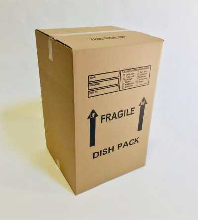 Dish Pack Moving Box