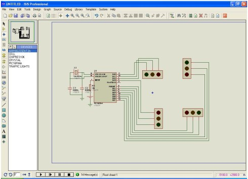 four way traffic contoll using PIC16F84A microcontroller
