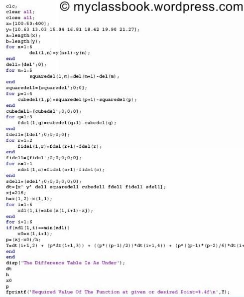 newtons forward interpolation formula 1