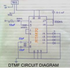 How To Make A Schematic Diagram Yamaha Gauge Wiring Dtmf Decoder Electronics Project