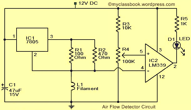 electronics mini projects with circuit diagram carbon cycle kids air flow detector project myclassbook org