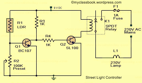 dld mini projects circuit diagram rotary switch wiring automatic street light myclassbook org using ldr electronics project