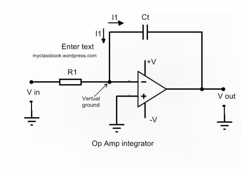 op amp as an integrator