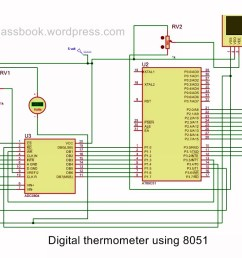 digital thermometer using 8051 microcontroller [ 1194 x 744 Pixel ]