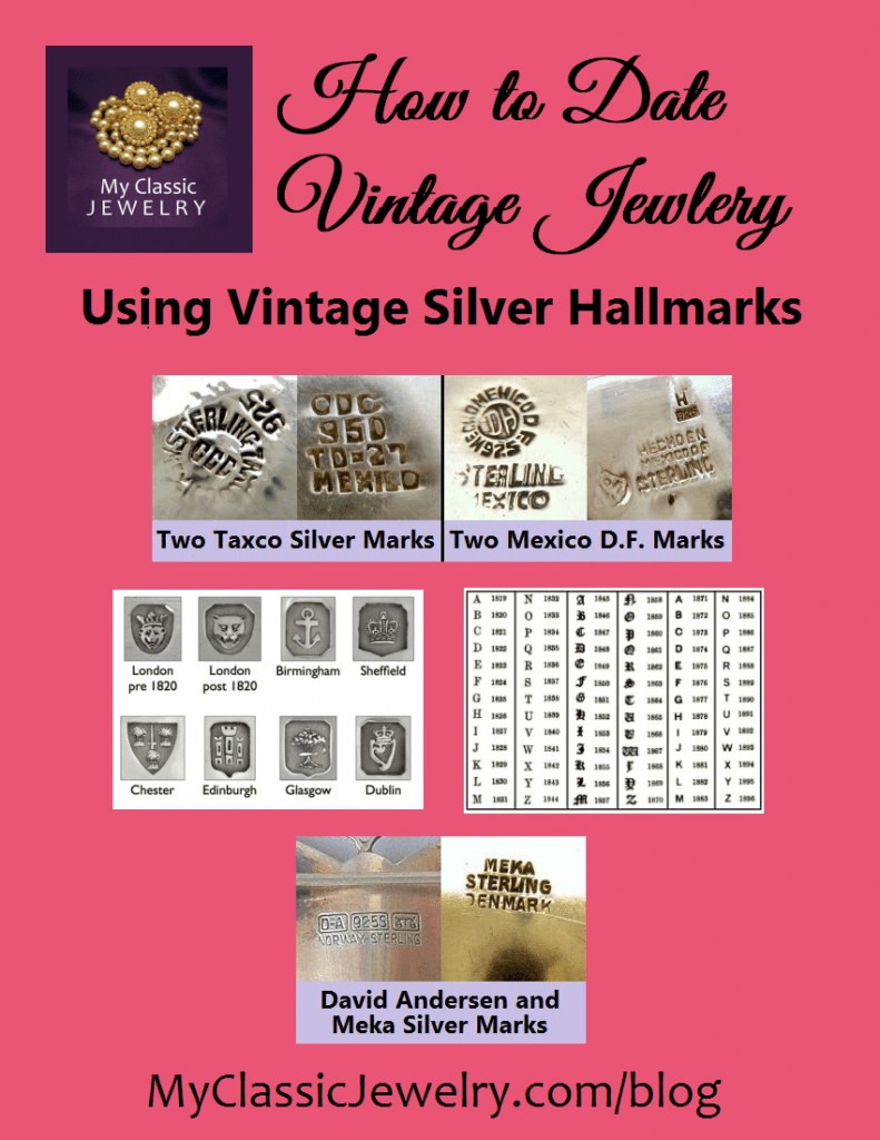 Jewelry Maker Marks : jewelry, maker, marks, Silver, Jewelry, Marks:, Learn, Identify, Classic, Vintage