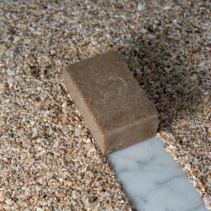 jabón exfoliante de conchas marinas
