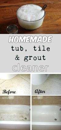Homemade tub, tile, and grout cleaner ...