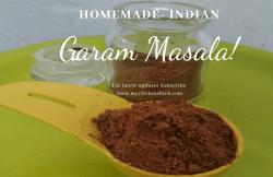 Indian Garam Masala Homemade