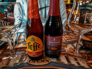 Belgian Fruit Beer in Restaurant  Perfect 2 day Brussels itinerary