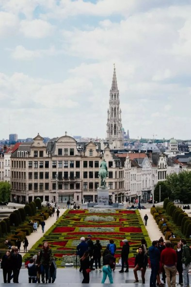Mont des Arts in Brussels view Perfect 2 day Brussels itinerary