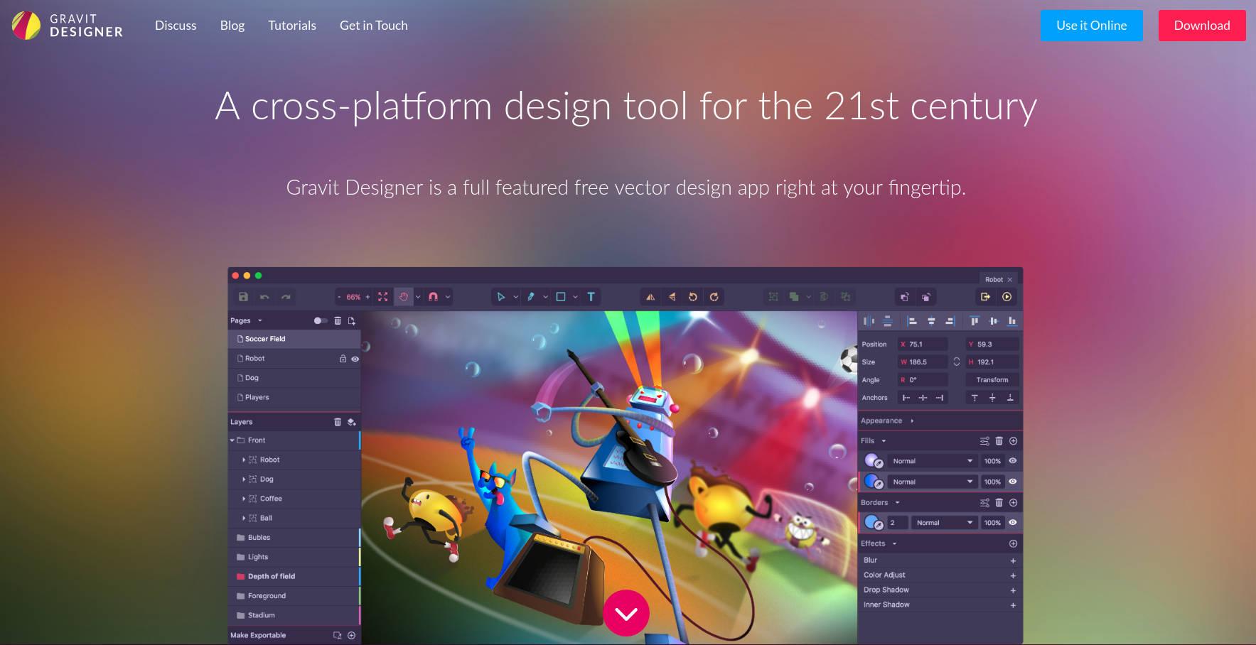 Gravit Designer:新一代的跨平台与云端免费矢量绘图与演示软件