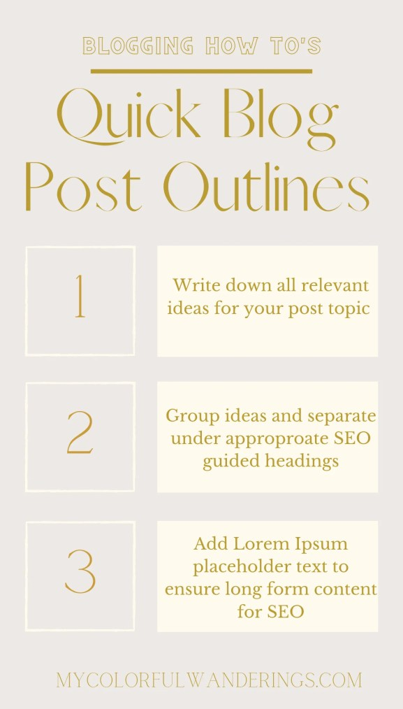 Implementing placeholder text into your workflow and all of the meat and potatoes surrounding the creation of effective blog post outlines.