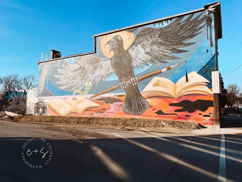 shelby park believe in yourself raven mural Louisville kentucky murals