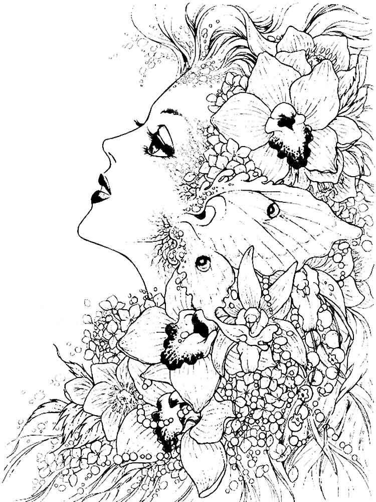 √ Fantasy coloring pages for adults. Free Printable Fantasy