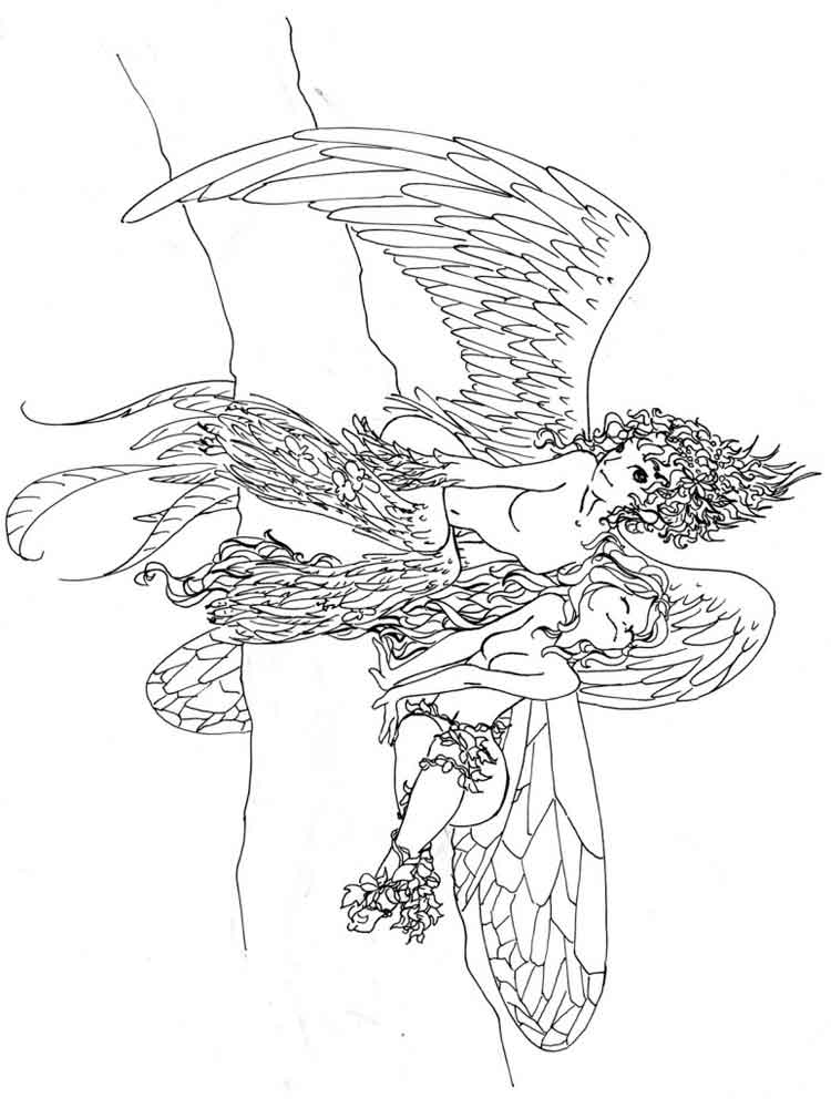 Fantasy coloring pages for adults. Free Printable Fantasy