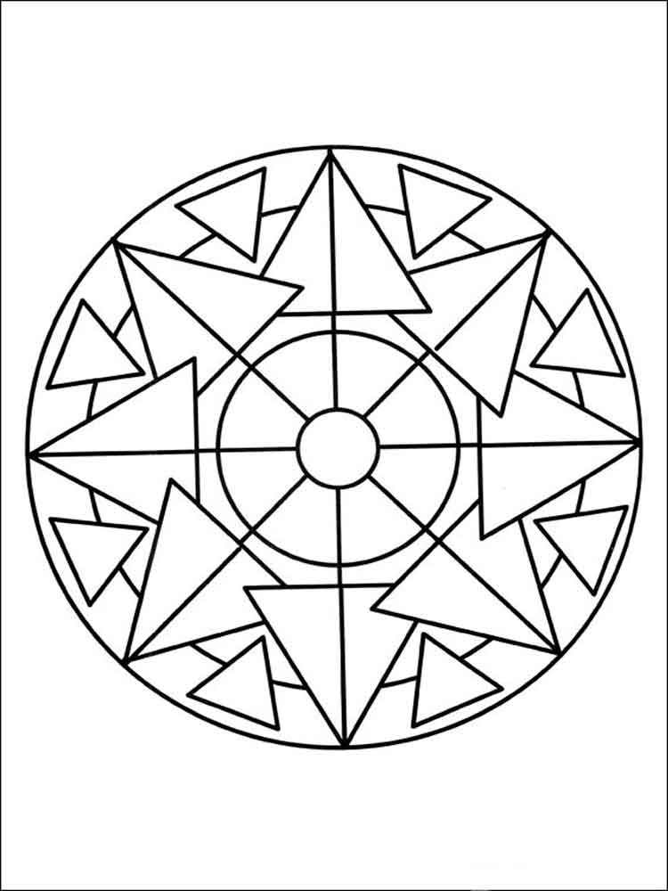 Simple mandala coloring pages for adults. Free Printable ... | free printable mandala coloring pages for adults easy