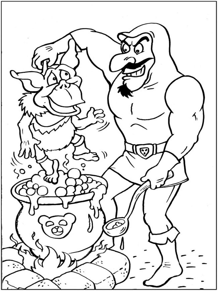 Gummi Bears coloring pages. Download and print Gummi Bears