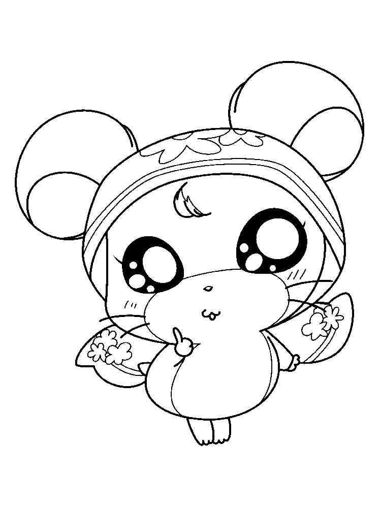 Hamtaro coloring pages. Download and print Hamtaro