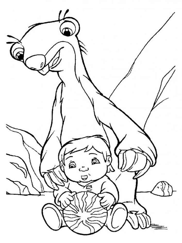 Ice Age Coloring Pages Getcoloringpagescom Sketch Coloring