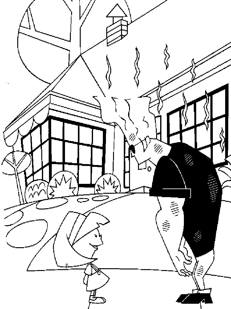 Johnny Bravo coloring pages. Download and print Johnny
