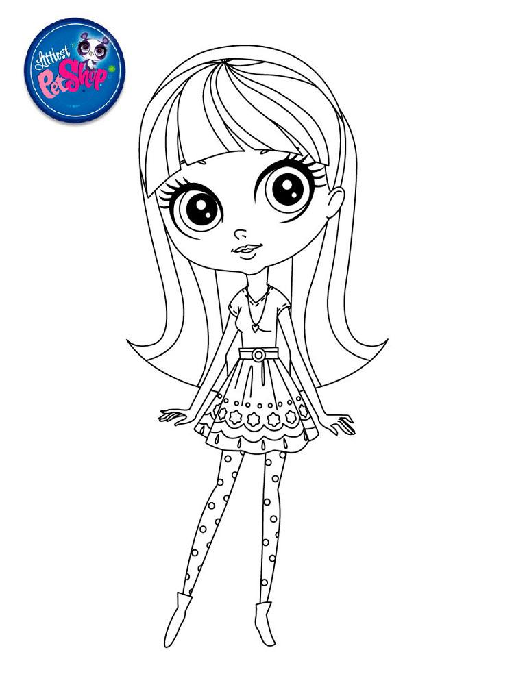 Littlest Pet Shop coloring pages. Download and print