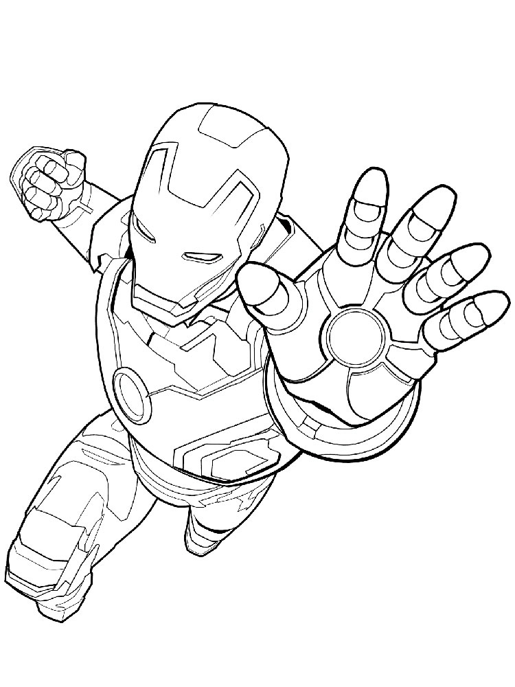 Free Marvel Superhero coloring pages. Download and print