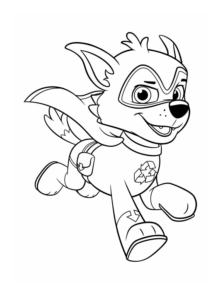 free paw patrol mighty pups coloring pages. download and
