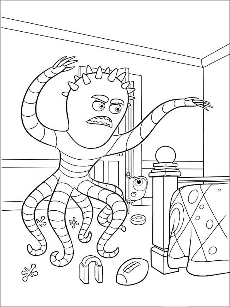 Free Monsters University coloring pages. Download and