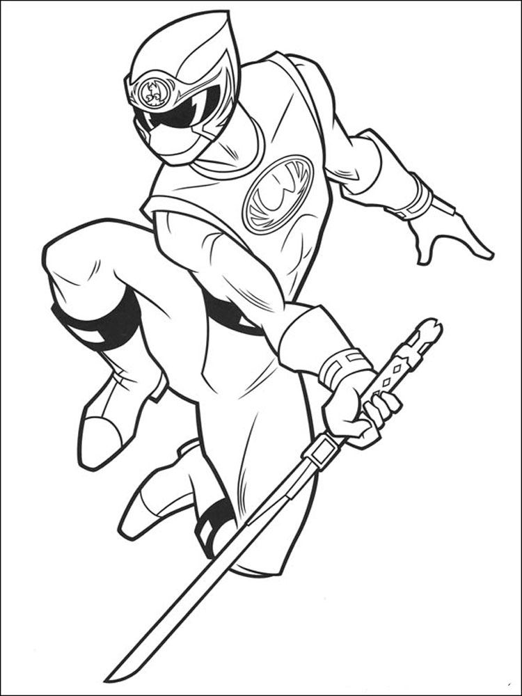 Power Rangers coloring pages. Download and print Power