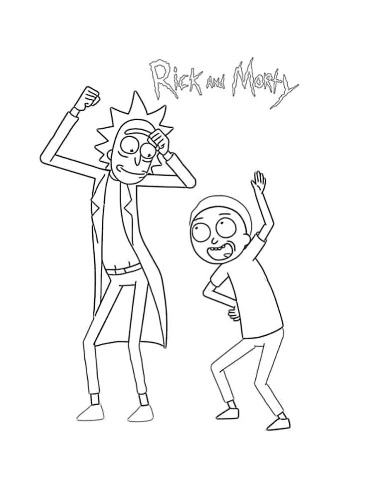 Free Rick and Morty coloring pages. Download and print