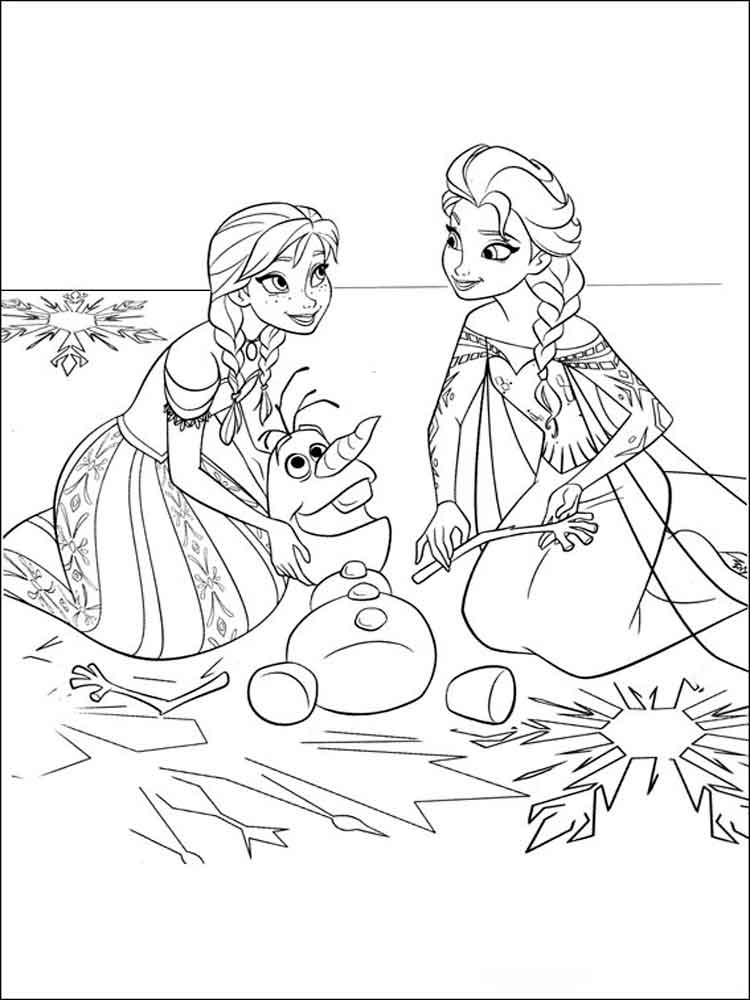 Frozen coloring pages. Download and print Frozen coloring