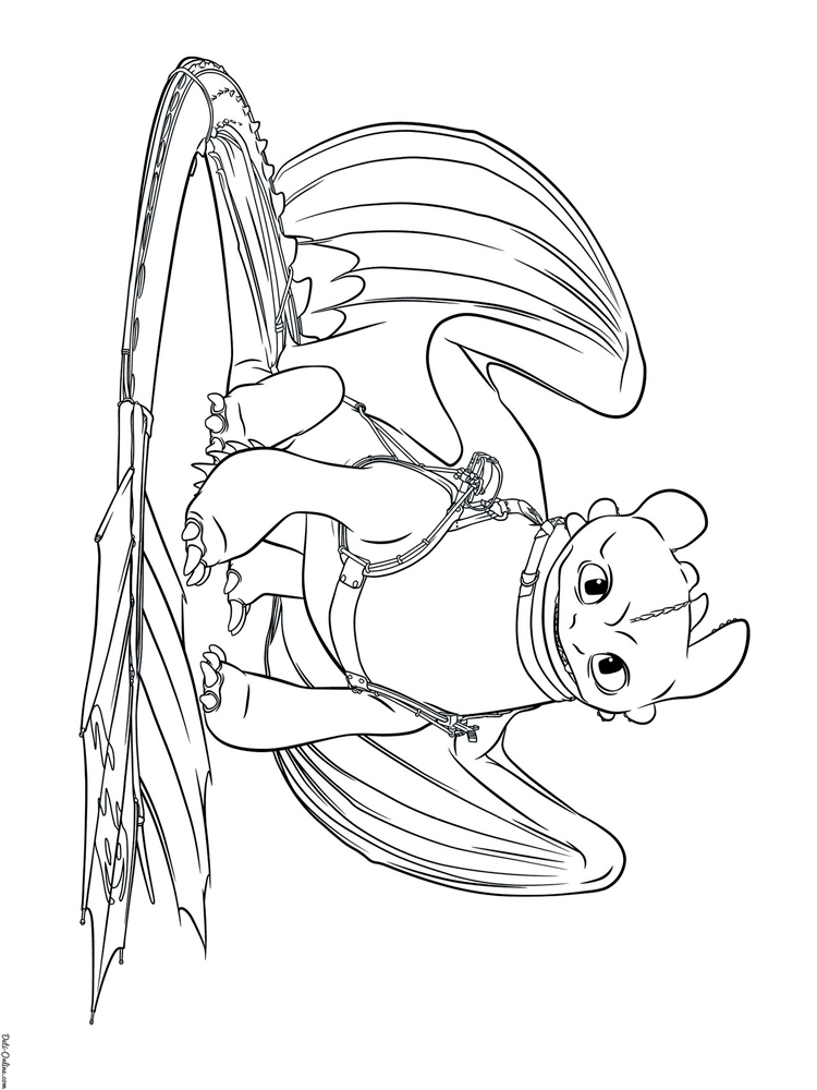 Free Toothless coloring pages. Download and print